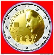 Estonia ESTLAND 2 EURO Gedenkmünze Schachmeister , Schach Coin Munze 2016 UNC - Estland
