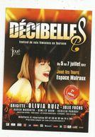 Cp, Musique Et Musiciens , Festival De Voix Féminines En Touraine , JOUE LES TOURS ,Olivia Ruiz... - Musica E Musicisti