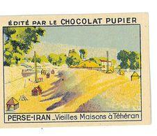 CHROMO IMAGE CHOCOLAT PUPIER ILLUSTRATION L'ASIE N°168 PERSE VIEILLES MAISONS A TEHERAN - Documentos Antiguos