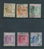 Cyprus 1904 KEVII 5 Para To 2 Piastre FU - Cyprus (Republic)