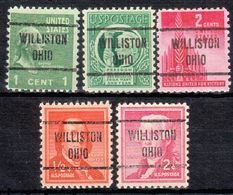 USA Precancel Vorausentwertung Preo, Locals Ohio, Williston 721, 5 Diff. - Vereinigte Staaten