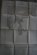 Carte Serv.Géograph. Armée 1/20 000ème -tirage 1931- VILLEFRANCHE S/ MER > Cap-Ferrat - Bon état - Topographical Maps