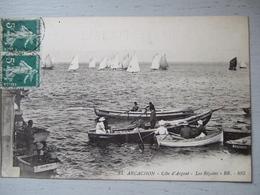 ARCACHON / COTE D'ARGENT / LES REGATES / TRES BELLE CARTE ANIMEE / 1914 - Arcachon