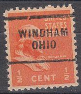 USA Precancel Vorausentwertung Preo, Locals Ohio, Windham 703 - Vereinigte Staaten
