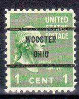 USA Precancel Vorausentwertung Preo, Bureau Ohio, Wooster 804-71 - Vereinigte Staaten