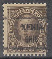 USA Precancel Vorausentwertung Preo, Locals Ohio, Xenia 653-604 - Vereinigte Staaten