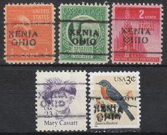 USA Precancel Vorausentwertung Preo, Locals Ohio, Xenia 701, 5 Diff. - Vereinigte Staaten