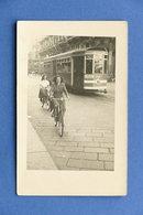 Cartolina Milano - Tram E Biciclette - 1940 Ca. - Cartoline