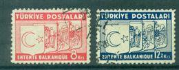 TURQUIE N°882 / 883 Entente Balkanique Ob.tb Cote : 20 €. - Gebruikt