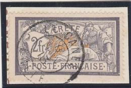 Crète - Yvert  14 Oblitéré Sur Fragment Cachet La Canée - Type Merson - Crete (1902-1903)