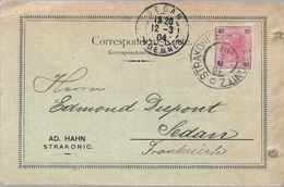 STRAKONICE Tchecoslovaquie CAD STRAKONICE / STRAKONITZ C 1904 Pour SEDAN France Timbre 10 Heller Autriche - ...-1918 Préphilatélie