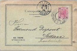 STRAKONICE Tchecoslovaquie CAD STRAKONICE / STRAKONITZ C 1904 Pour SEDAN France Timbre 10 Heller Autriche - Tchécoslovaquie
