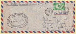 1947 Enveloppe Par Avion De Nouméa à Papeete Puis Par Voie Maritime Vers Bordeaux - Briefe U. Dokumente