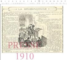 Presse 1910 Roi Léopold II La Brabançonne Anvers Belgique Opéra-Comique Le Roi L'a Dit Léo Delibes Musique Violon216CHV7 - Ohne Zuordnung