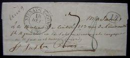 """Naufrage De """"la Vedette"""" à Miquelon (1841) Disparition Du Commandant De Cintré, émouvante Lettre De Son Frère à Sa Mère - Manuskripte"""
