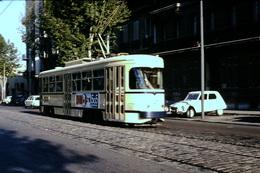 Photo Diapo Diapositive Slide Marseille En 08/1970 Tram Tramway Citroën Dyane VOIR ZOOM - Diapositives