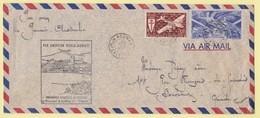 1947 Enveloppe Par Avion De Nouméa à Sydney Puis Par Voie Maritime Vers Bordeaux - Briefe U. Dokumente