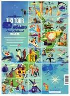 New Zealand 2012 Tiki Tour Large Sheet MNH - New Zealand