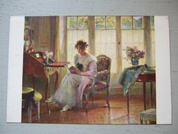 EDOUARD BELHAY / LE DERNIER ROMAN / SUPERBE CARTE 1918 / SALON DE PARIS - Peintures & Tableaux