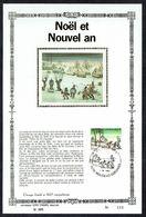 "FDC  Feuillet D'Art Soie - COB N° 2155 - NOËL, NOUVEL AN / KERSTMIS, NIEUWJAAR - Oblit.: "" HOUDENG-GOEGNIES - 1/12/1984. - FDC"