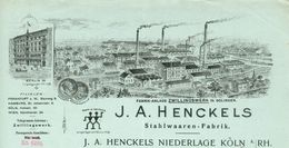 Allemagne - Köln: Rechnung/Facture Illustrée 13/9/1901 - J.A Henckels - Fabrik-Anlage Zwillingswerk In Soligen - 1900 – 1949
