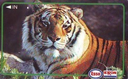 Télécarte Japon * ESSO EXXON * Animal * TIGRE * TIGER (774) * FELIN * Japan  Phonecard Telefonkarte * TIJGER - Phonecards