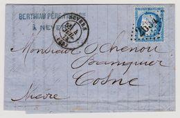 Cérès N° 60 A Position 140 A2 Remplaçant GC N° 2654 Rare Sur Lettre 2 Scans - 1871-1875 Cérès