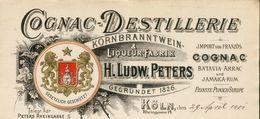 Allemagne. Köln. - Entête Du 29 Avril 1901 - H.Ludw.Peters - Cognac - Liqueur Fabrik -Batavia-Arrac/Jamaica-Rum - 1900 – 1949