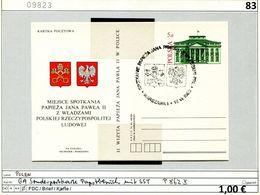 Polen - Poland - Pologne - Michel Ganzsache P 862 II Mit Sonderstempel - Papstbesuch 1983 - 1944-.... Republik