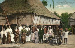 Philippines, Mindanao, Chief Dankiacan And Followers, Native Chief (1911) - Philippines