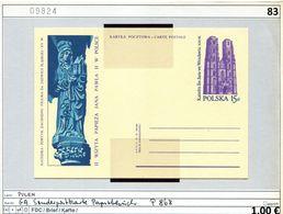 Polen - Poland - Pologne - Michel Ganzsache P 868 - ** Mnh Neuf Postfris - Papstbesuch 1983 - 1944-.... Republik
