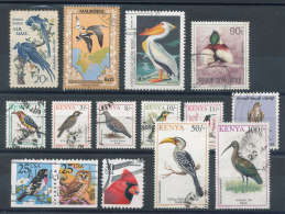 Petit Lot De 15 Timbres Oiseaux - Collections, Lots & Series