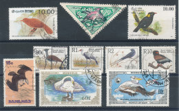 Petit Lot De 10 Timbres Oiseaux - Collections, Lots & Series