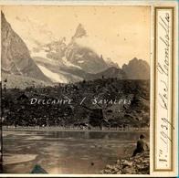 Italie Courmayeur - Lac COMBALLE - Photo Stéréoscopique Braun Vers 1865 - Voir Scans - Stereoscopic