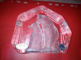 BACCARAT PRESSE PAPIERS COUPLE DE CHAT - Glass & Crystal