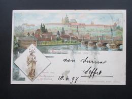 AK Litho 1897 Mehrbildkarte Gruss Aus Prag. Nach Pilsen Gesendet! Verlag G. Neugebauer - Gruss Aus.../ Grüsse Aus...