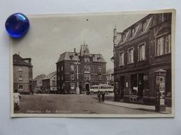 Planitz I.Sa., Rathaus, Alter Bus, Litfassäule, Geschäfte, 1925 - Germany