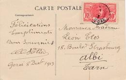 Carte General Faidherbe Gorée Senegal - Sénégal (1887-1944)