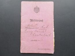 Militärpaß Jahrgangsklasse 1911 Gefreiter Provinzial Feldartillerie. Arnoldsweiler /Preussen Einige Stempel! + Foto!! - Dokumente