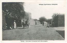 TCHAD - Afrique Equatoriale Française - FORT-LAMY - Un Quartier De La Ville Indigène    (103383) - Ciad