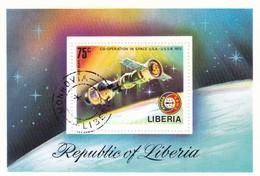 LIBERIA CO-OPERATION IN SPACE U.S.A.-U.S.SR. 1975 - Liberia