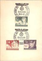 Propagandakaart één Jaar Generalgouvernement. Radom 26/04/1940. - Allemagne