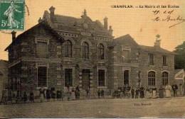 91 CHAMPLAN  La Mairie Et Les Ecoles (très Animée) - France