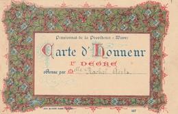 Wavre , Pensionnat Des Soeurs De La Providence  , Carte D'honneur , 1er Degré - Wavre