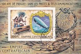 EMPIRE CENTRAFRICAIN 100 ANS DE PROGRES DANS LES POSTEA & TELECOMMUNICATION 1974 - Repubblica Centroafricana