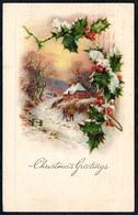 B2099 - Litho Glückwunschkarte - Weihnachten Winterlandschaft - Gel 1923 Willimantic Nach Verden - Sonstige