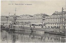 """Le """"Dupuy-de-Lôme"""" En Réparation - Guerre"""