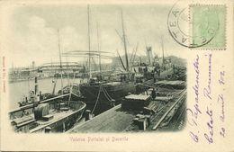 Romania, CETATEA, Vederea Portelui și Docurile, Harbour & Docks (1902) Postcard - Romania