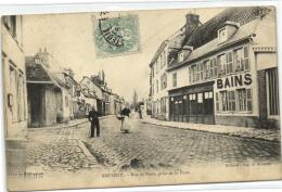 1 Postcard France 27 Eure Breteuil Rue De Paris Prise De La Poste - Breteuil