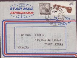 AEROGRAMME 1979  R . RAMAN ET BROTHERS   JAIPUR  A PARIS VOIR PHOTOS - Aérogrammes